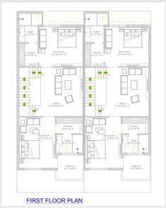 Duplex Design 2 Combined unit First floor plan 2bhk House Plan, House Plans Mansion, Simple House Plans, Duplex House Plans, Luxury House Plans, 40x60 House Plans, House Floor Plans, Duplex Design, House Design