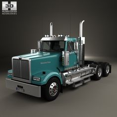 Western Star 4900 SF EX Day Cab Tractor Truck 2015 3d model from Humster3D.com.