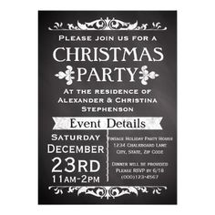 Cheerful Elegance Christmas Party Invitation Christmas Party