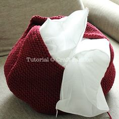 Perfect Pouf Knitting Pattern (or puff)using short row technique to give a nice top-bottomappearance. Stuff wt cheap duvets or stool bean bag to complete. – Page 2 of 2