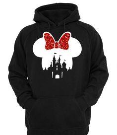 Disney Castle Minnie Silhouette Head Hoodie Perfect For Those Chilly Nights Hooded Pullover Sweatshirt Disneyland Christmas Disney by ShesCrafteeLLC on Etsy https://www.etsy.com/listing/464608992/disney-castle-minnie-silhouette-head