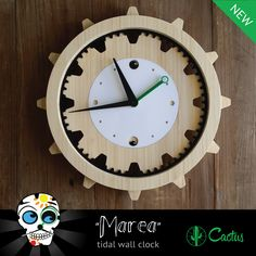 Introducing Marea!   A simple yet elegant time piece perfect for any room. Made from sustainably grown bamboo, this wall clock also has a tide feature that will make sure you know when to go! The Marea is available in two colour options, runs on a single AA battery and can be hung using a single 3M hook. This product would look great hanging on the wall above your Cactus surfboard rack. Ships in approximately 3 weeks.     Dimensions: 300mm x 300mm x 55mm (batteries and hook not included)