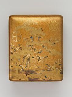 Box (Sumiaka tebako) with Design of Pine, Bamboo, and Plum