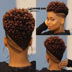 Natural Curly Fade Mohawk Hairstyle