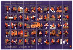 Danish Christmas stamps