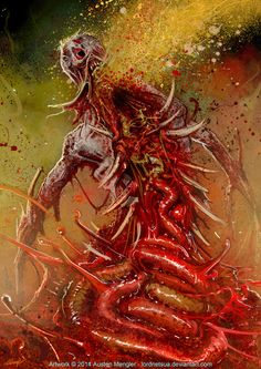 Check out the speed painting on myYoutube Channelhere! - youtu.be/_Txg5KJYol8?list=UUG6… A Puker from one of my favourite games, Dead Space 2. Makes me wanna play it again. Took ...