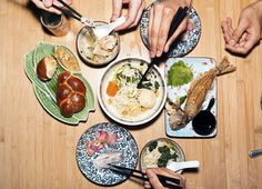 Shalom Japan in Brooklyn, NY. A curious mix of Jewish and Japanese cuisine.