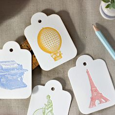 Letterpress gift tags | Letterpress swing tags | Luggage Tag