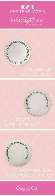 How to use Origami Owl In{script}ions Template K