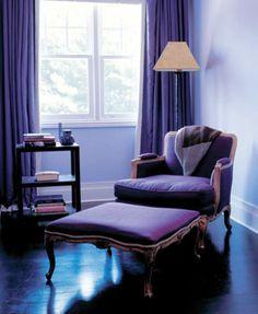 Interiors Purple On Pinterest Purple Walls Purple Interior And Purple Bed