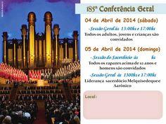 As Tontas Vão Ao Céu: Arquivos para 185ª Conferência Geral (abril 2015)