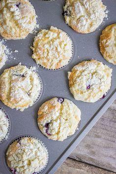 Lemon Blueberry Greek Yogurt Muffins - Lovely Little Kitchen