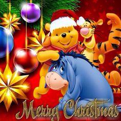 winnie the pooh eeyore merry christmas - Pooh Christmas