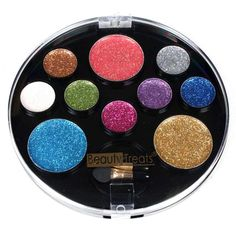 10 Color Perfect Glitter Makeup Palette - Red Multi