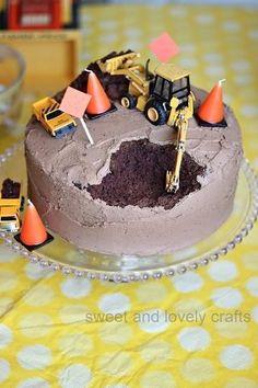 Paxton wants a digger cake- Oreo crumb dirt?