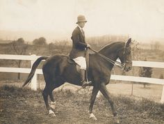 Harriet Rogers, Sweet Briar College Riding instructor from 1924-1963, was an expert horsewoman who developed the College's riding program. The Sweet Briar College Harriet Rogers Riding Center is named in her honor. (Photographed circa 1927).  Sweet Briar College, some rights reserved. CC-BY-NC.