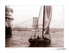 Brooklyn Bridge Under Construction, c.1877