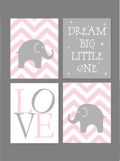Pink and Grey Nursery Baby Girl Nursery Pink and by karimachal