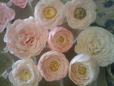 garden roses, flowers, and ranunculus