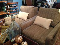 Brown Tweed Chairs