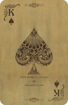 Inspiration - Like the detail work within the card suit shape. Possibly tattoo inspired? Also like the old fashioned feel