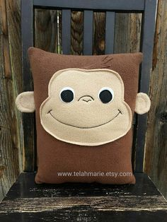 Curious George,  Monkey, Pillow, Plush, cushion, gift by telahmarie on Etsy https://www.etsy.com/listing/199105290/curious-george-monkey-pillow-plush