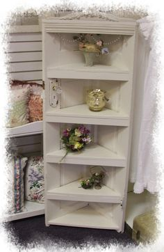 """55"""" vintage door corner shelf"""