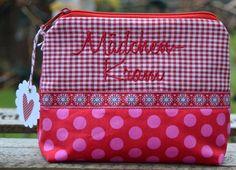 ♥ Mädchenkram ♥ Schminktäschchen ♥ Dots ♥ von KleinesLieschen auf DaWanda.com