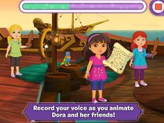Dora and Friends App fuer Kinder - Nickelodeon Dora And Friends, New Friends, Ipod, Kindle, 6 Year Old Boy, Great Apps, Android, Digital Storytelling, Language Development