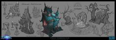 Heroes Of The Storm - Towers Of Doom Structure Concepts, David Harrington on ArtStation at https://www.artstation.com/artwork/WPBly