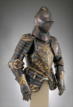 Foot-Combat Armor of Prince-Elector Christian I of Saxony, 1591 German