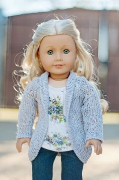 Trendy Slouch Cardigan for an American Girl Doll or Other 18 Inch Dolls on Etsy, $13.75 so amazing I love this outfit! so great on caroline!
