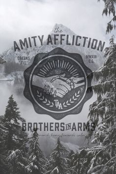 """The Amity Affliction logo design/cool poster design. For some reason I keep gravitating towards the """"hipster logos""""."""