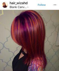 Hair Color Purple, Hair Color And Cut, Haircut And Color, Cool Hair Color, Hair Colours, Love Hair, Gorgeous Hair, Bright Hair, Unicorn Hair