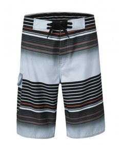 8a5f99906a Men's Qick Dry Boardshorts Colorful Stripe Casual Short Swim Trunks with  Lining - Gray - C412NUBBS7Z