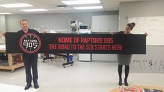 We've gotta admit; this is pretty cool. #Raptors905 #Mississauga #Signage #the6ix