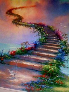 La escalera al cielo. #CADE #escuela #diseñofloral
