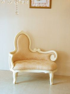 westhouse | Rakuten Global Market: Imported furniture ■ order furniture ■ Princess furniture ■ actress sofa ■ Audrey sofa ■ back left ■ depth 50 cm ■ sculpture in Beverly Hills ■ white color ■ champagne gold upholstery