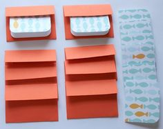 Cute Goldfish Mini Cards $3