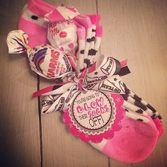 Cheerleading cheerleader competition gifts or favors by Ella Jane Crafts. You're going to Blow their socks off