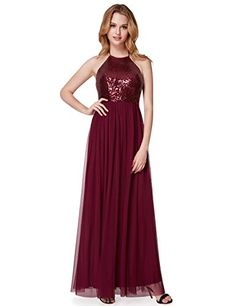 a790bccaed Ever-Pretty Sleeveless Sequin Floor Length Christmas Beautiful Formal Dress  07286 at Women s Clothing store