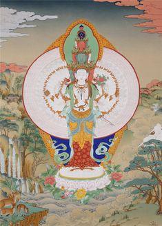 Buddhist Wheel Of Life, Buddhist Art, Buddhism, Thangka Painting, Om Mani Padme Hum, Tibetan Art, Gabriel, Mythology, Meditation