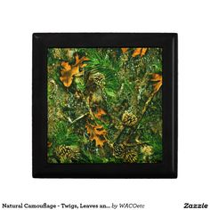 Natural Camouflage - Twigs, Leaves and Pinecones Gift Box
