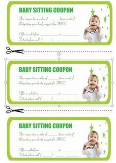 Babysitting Coupon Book Template   Babysitting Coupon Book