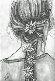 peaceful flower braid, like you've been playing in the woods all day...: