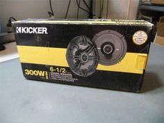 "KICKER 40CS654 CAR AUDIO STEREO 6.5"" 2-WAY CS SERIES SPEAKER SET #Kicker"