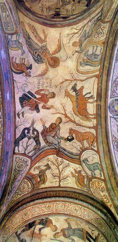 San Isidoro de León (o Real Colegiata Basílica San Isidoro) - (León, España). Romanesque Art, Romanesque Architecture, Art And Architecture, Medieval World, Medieval Art, Fresco, Eslava, Early Middle Ages, Roman Art