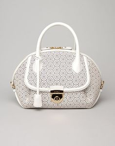 The new Ferragamo Fiamma Lace satchel, a must-have for Spring!!