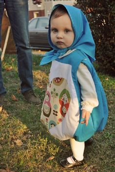 Matryoshka doll costume!! Halloween. baby. child. girl. fall. dress up. so cute. Russian nesting / stacking dolls. babushka doll. clothing. sewing. pattern. design.