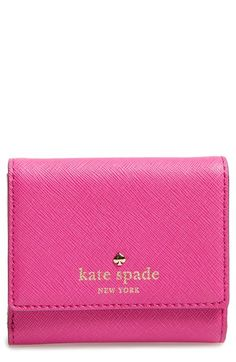 Free shipping and returns on kate spade new york 'cedar street - tavy' leather wallet at Nordstrom.com. A golden spade logo tops this pretty little wallet done up in luxe crosshatched leather for a chic finish that resists wear and tear.